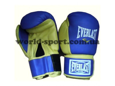 Перчатки бокс Лев 12 OZ Everlast (стрейч, синий)