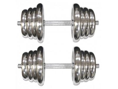 Гантели наборные хромированные 10 кг ТА-0010-20