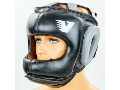 Шлем боксерский с бампером кожаный Velo 6636