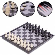 Шахматы, шашки, нарды 3 в 1 магнитные SC56810