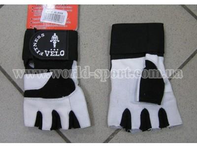Перчатки для тяжелой атлетики с напульсником Velo VL-8115