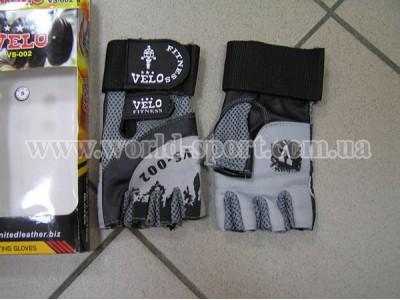 Перчатки для тяжелой атлетики с напульсником Velo VL-8121