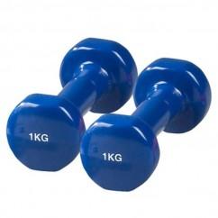 Гантели для фитнеса виниловые по 1 кг