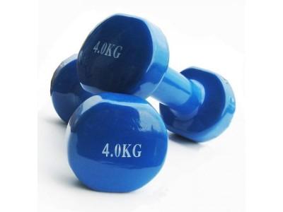 Гантели для фитнеса виниловые по 4 кг