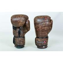 Перчатки боксерские кожаные на липучке HAYABUSA KANPEKI VL-5779