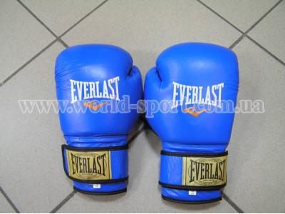 Перчатки боксерские Everlast AHSAN STAR кожа 0106